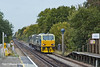 26th Oct 10:  DR98906+98956 are working 3S82 from Effingham Junction.  Seen here rushing through Sunningdale it will be 4 1/2 hours before they return going the other way having visited Clapham Jct, Windsor and Weybridge.