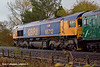 30th Oct 10:  66712 brings up the rear of the 'Wandering Willow'  tour