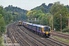 15th Oct 10:  The 11.45 from Alton  and 450123 nears Woking closely followed by 159106 working 1L34 the 10.45 from Salisbury