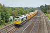 14th Sep 10:  6M80 the 'Q' service from Eastleigh to Stud Farm ran today.  66617 and the usual yellow empty ballast boxes run through Lower Basildon