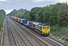 16th Sep 10:  4L32 from Bristol to Tilbury is well loaded as it passes through Shottesbrooke