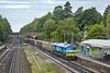 29th Sep 10:  The Merehead to Woking stone trundles up the slow line through Winchfield with 59005 on the point