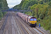 16th Sep 10:  66007 runs eastward through Shottesbrooke with 6M20 from Whatley to St Pancras