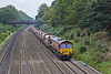 27th Sep 10:  6M20 from Whatley to St Pancras with 66058 on the point on the Up Relief through the Sonning Cutting