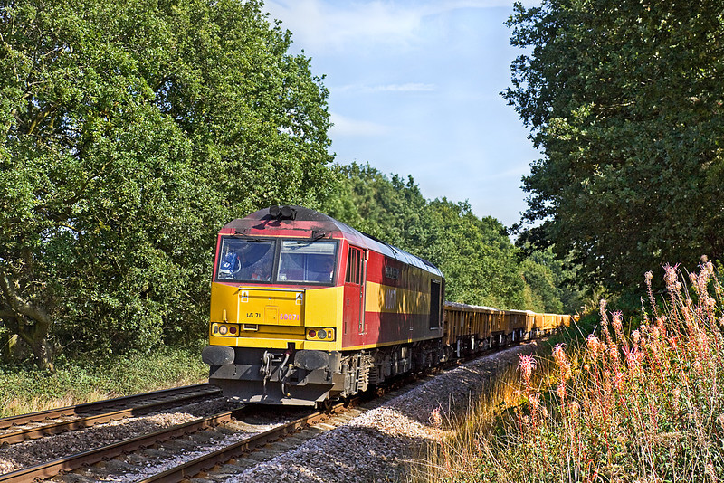 21st Sep 10:  Having arrived at Hinksey DIT from Bescot 60071 is trusted to work 6O26 departmental to Eastleigh.  It was later to work to Westbury