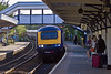 6th Sep 10:  The 17.39 from Penzance to Paddington via Bristol draws into St Erth. 43023 is the leading power car