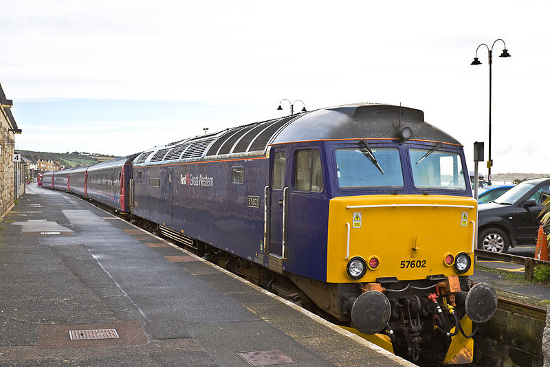 9th Sep 10:  57602 stands at Penzance having worked 1C99  the 11.45pm sleeper service from Paddington to Penzance