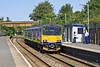 8th Sep 10:  In Silver Link livery but sporting FGW branding 150121 draws into Hayle with a Plymouth to Penzance service