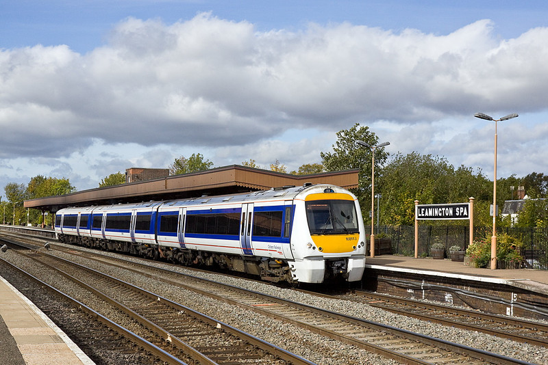 168113 working the 11.20 from Stratford on Avon leaves Leamington Spa with 1H35 to Marylebone