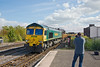 21st Sep 11:  Chris Nevard gets the shot as 66554 enters Leamington Spa with 6Z22 Eastleigh to Stud Farm departmental service