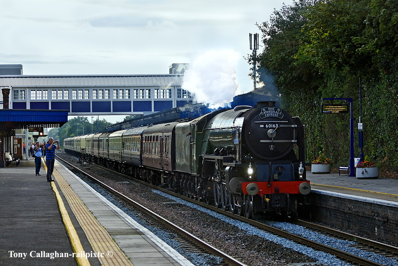 4th Aug 11:  60163 'Tornado' storms through Twyford with 1Z67 working from Bristol Temple Meads to Cambridge