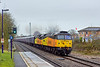 19th Dec 11:  5Z25 was entrusted to Colas Rail to move 12 FGW Buffet Cars from Eastleigh to Carlisle.  47739 & 47749 are captured at Mortimer