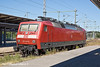4th Jun 11:   Waiting in the weeds between platform 3 & 4 at Rostock is is 120 146-6 .  It was later to take over a south bound train