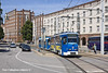 3rd Jun 11:  Tram Car 806 with a trailer enters Neur Markt in Rostock