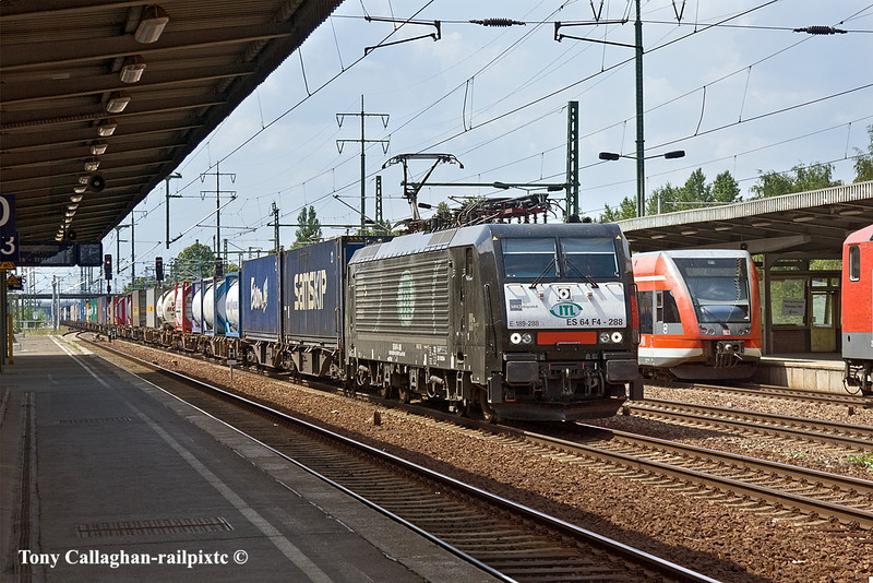 11th Jun 11:    TL's 158 228 heads East with a container train