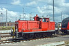 6th Jun 11:  Rostock shunter 362 755-1 at rest in the yard