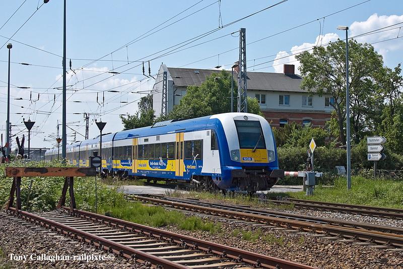 6th Jun 11:  The Connex Liepzig to Warnemunde service arrives at the destination