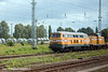 6th Jun 11:   Rabbit 216 012-5 branded H F Wiebe stands with a shunter at Neustaflitz