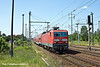 10th Jun 11:    A RE7 service to Dessau Hbf draws into Shonefeld powered by 143 821-7