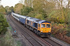 9th Nov 11:  66731 works south through Silchester on 5O08 bringing 508204 and 508207 from Donnington RFT to Eastleigh RC