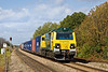 6th Oct 11:  Power Haul 70007 hauling 4O51 from Wentloog to Southampton storms through Cholsey