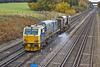 31st Oct 11:   MPV DR98977 and DR98927 on the Up Fast between Hook and Winchfield working Eastleigh Leaf Buster duty 3S85