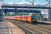 30th Jun 11:  The Warrington to Willesden  mail train charges through Rugeley with 325005 on the point