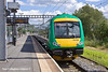 30th Jun 11:  Sitting in Platform 1 at Rugeley are 170504 and 153365 they will form 2K22 the 16.42 to Birmingham New Street