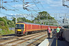 30th Jun 11:  325005 brings up the rear of the Warrington to Willesden Royal Mail service seen here racing through Rugeley.  Richard L shows little interest, Chris N checks the result and Chris P grabs another shot.