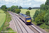 30th Jun 11:  Nearing Willow Bottom Lane near Elford is 170522 heading to Cardiff with the 13.11 from Nottingham