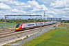 30th Jun 11:  The 14.00 from Euston to Manchester Piccadilly leans to the curve at Lichfield