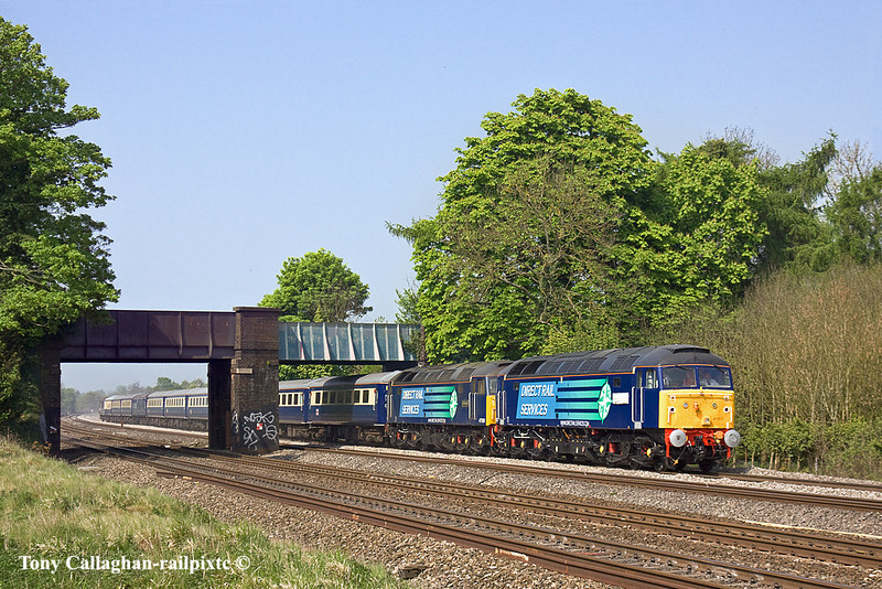 19th Apr 11:  47810 & 47501 head 1Z47 from Edinburg to Southampton boat train in conection with sailing the Queen Elizabeth