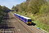 9th Apr 11:  The 11.07 from Oxford to Paddington (2P46) formed of 165106 is on time as it passes through the Sonning Cutting