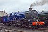 """2nd Apr 11:  Newly restored GWR 4-6-0 6024 """"King Edward I stands outside the shed on it's puiblic launch day"""