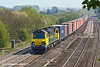 19th Apr 11:  70001 in on the point of 4M61 from Southampton to Trafford Park.  Captured at Lower Basildon