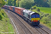 28th Apr 11:  On hire to Freightliner from DRS 66429 heads north through Silchester with 4M61 from Southampton to Trafford Park