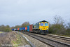 4th Feb 11:  66572 is on the point of 4O54 from Leeds as it runs south between Reading and Mortiimer