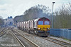 14th Feb 11:  66164 nears Twyford while working 6M20 from Whatley to St Pancras with a mixed bag of Ex RMC Hoppers