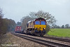 4th Feb 11:  Going well up the slight grade at Danes Crossing is 66127 working 4M66, Intermodal to Birch Coppice from Southampton
