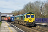24th Feb 11:  The 09.13 from Leeds to Southampton is in the hands of 66956 as it runs through Tilehurst