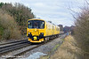 11th Jan 11:   NetworkRail Track Recording Unit 950001 runs towards Wokingham.  Captured here from the Waterloo Road level crossing