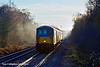 5th Jan 11:    Charging up the hill through Sandhurst are 73107+73138 with the day's 1Q38 from Selhurst to Selhurst via Reading