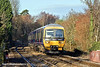 5th Jan 11:  On a surprisingly sunny but cold morning 166203 is seen here running through Sandhurst with the 09.34 from Reading to Gatwick