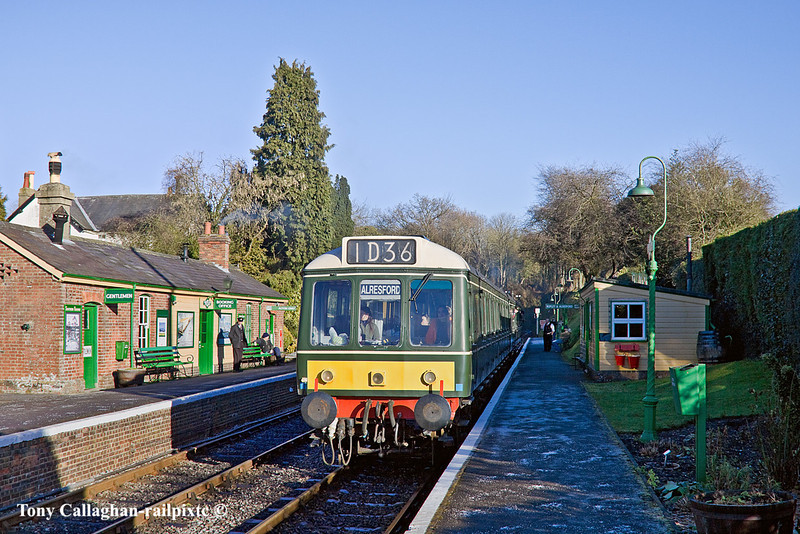 9th Jan 11:  The 12.50 from Alton Leaves Medstead & Four Marks for the next stop at Ropley
