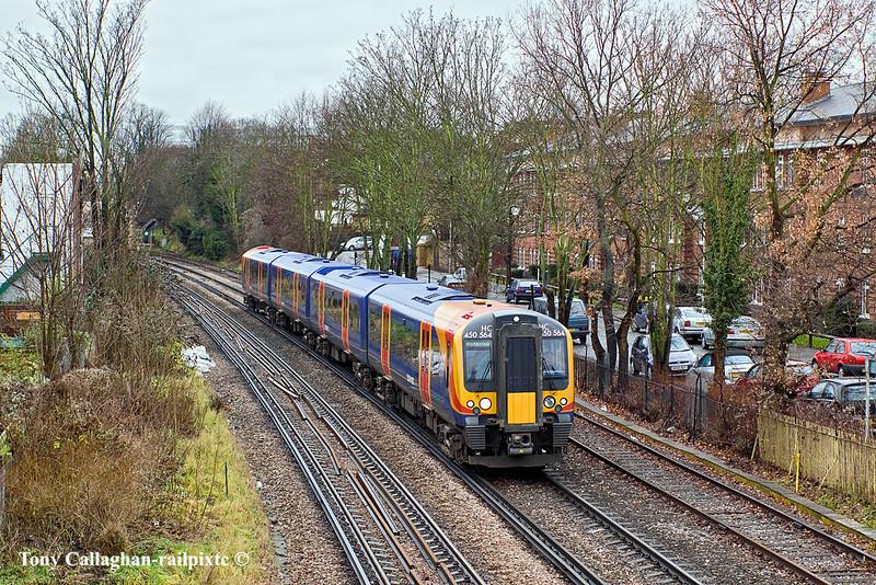 12th Jan 11:  450564 runs away from Kew Bridge station on the 11.33 from Weybridge to Waterloo