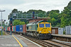 21st Jul 11:  66567 potters though Southampton Central witha north bound Freight Liner