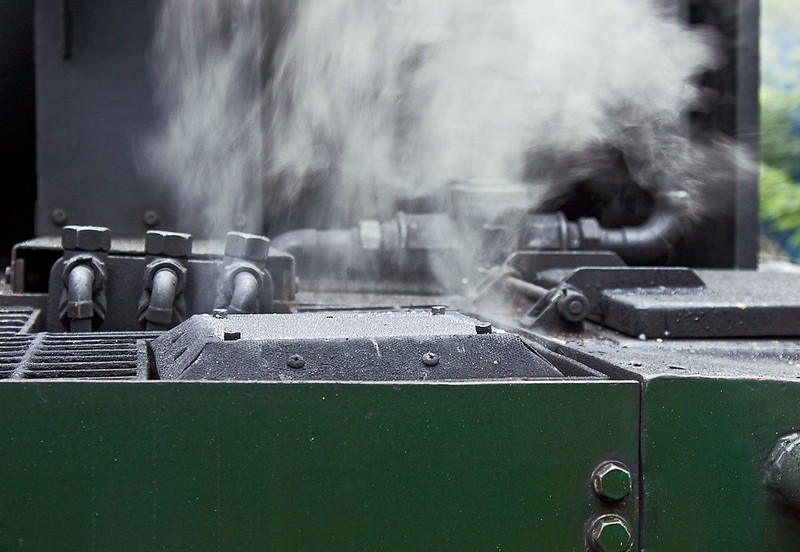 8th Jul 11:  Outlet from the airbrake pump situated in the back of the tender