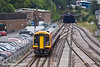 21st Jul 11:  Heading for the tunnel at Southampton is 158883 working 2R46 the 12.56 Salisbury to Romsey