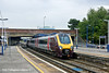 21st Jul 11:  the 10.27 from Manchester Piccadilly to Bournemouth in the hands of 221132 departs from Southampton Central