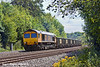 14th Jul 11:   66704 heads the Bow to Appleford loaded spoil through the cutting at Pangbourne